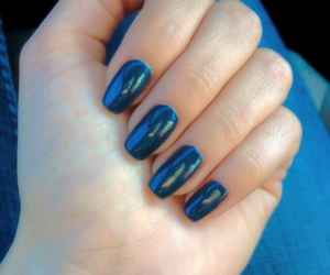 blue, dark blue, and nails image