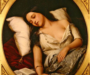 art, painting, and sleeping image