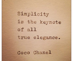 quotes, coco chanel, and simplicity image
