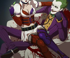 batman, joker, and harley image