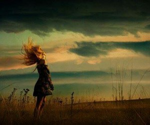 girl and wind image