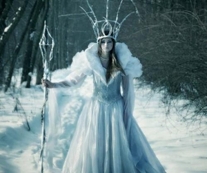 winter, Queen, and princess image