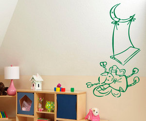 fairy girl, wall decals, and vinyl stickers image