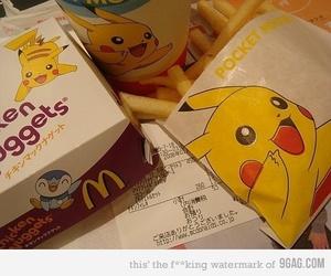 pikachu, pokemon, and McDonalds image