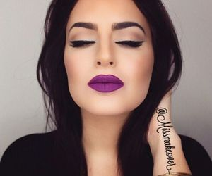 makeup, beauty, and purple image