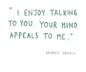 George Orwell, love, and mind image