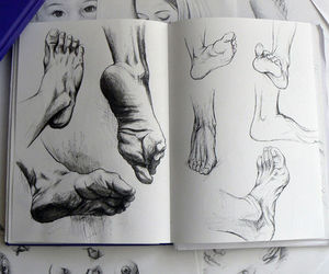 croquis, drawing, and foot image