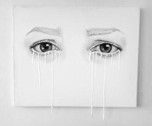 eyes, art, and white image