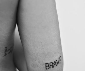 tattoo, brave, and ink image