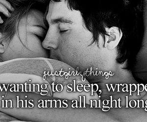 love, sleep, and couple image