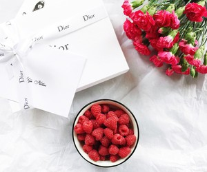 dior, fashion, and flowers image