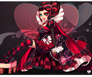 hearts, lizzie, and ever after high image
