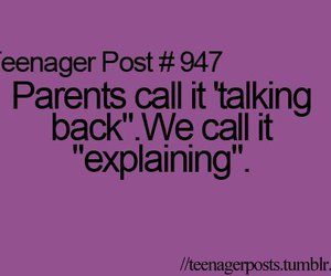 teenager post, parents, and quote image