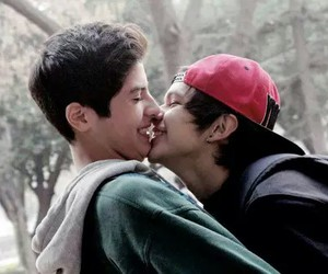 love, gay, and couple image