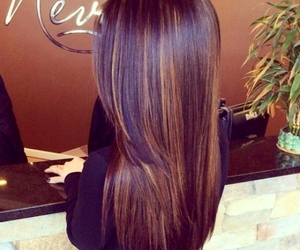 hair, brunette, and brown image