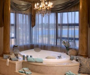 interior, bathroom, and bathtub image