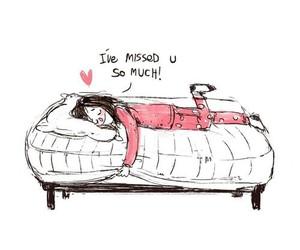 bed and sleep image