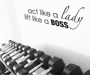 lady, boss, and fitness image