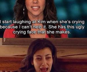 funny, kim kardashian, and crying image