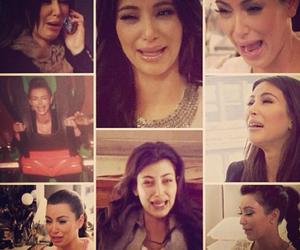 crying, lmao, and kim kardashian image