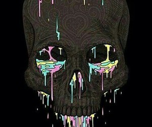 skull, colors, and coolthings image