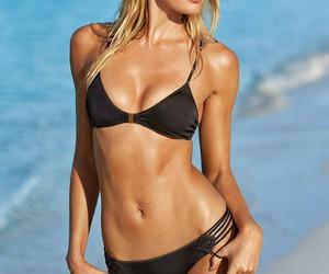 beach, blonde, and swimwear image
