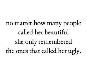 ugly, beautiful, and quote image