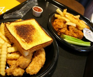 chicken fingers, delicious, and food image