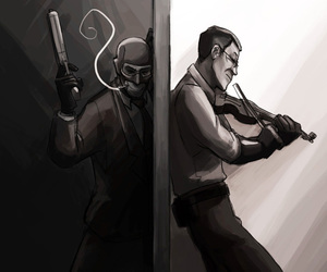 tf2, white, and team fortress image