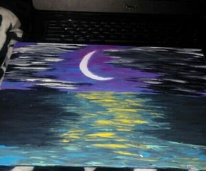 art, colorful, and moon image