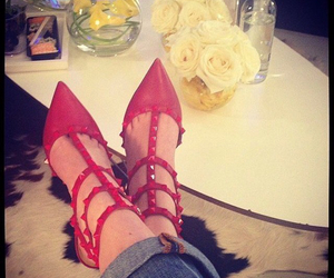 red, shoes, and Valentino image