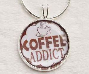 coffee, etsy jewelry, and coffee necklace image
