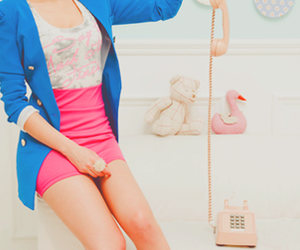 fashion, pink, and blue image