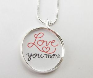 wedding, wife, and i love you more necklace image
