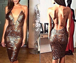 backless, dress, and fit image