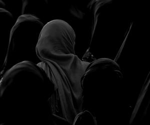 red, black, and muslim image