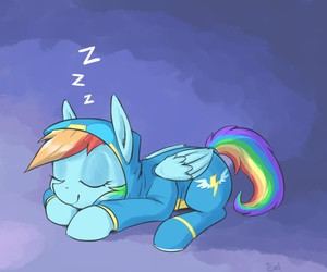 dash, MLP, and rainbow image
