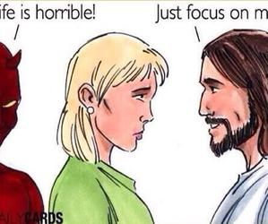 god, focus, and jesus image