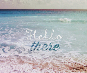 background, beach, and blue image