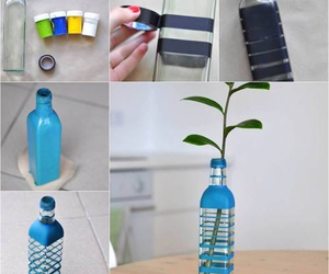 diy, bottle, and vase image
