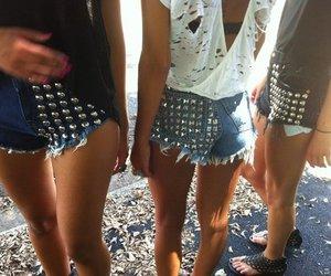 girl, fashion, and shorts image