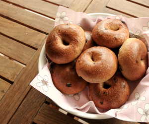 bagel, bagels, and breakfast image