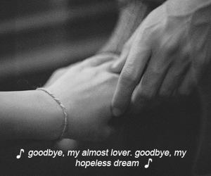 dreams, hopeless, and lover image