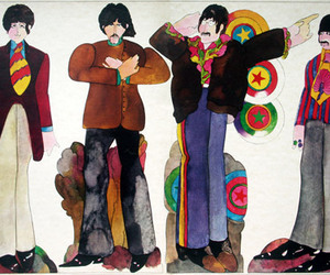 beatles, illustration, and watercolor image