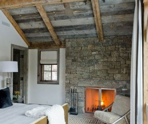 bedroom and fireplace image