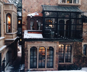 city, winter, and house image