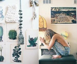 girl, home, and art image