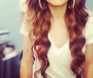hair, lips, and long image