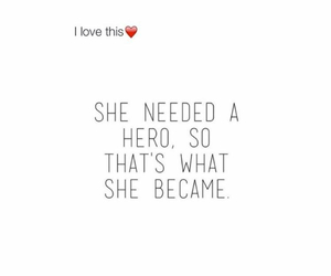 hero, quote, and girl image