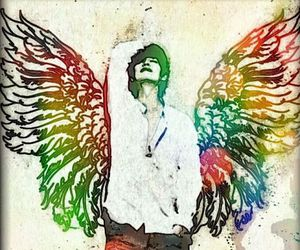 angel, art, and color image
